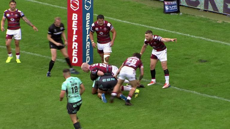 Highlights from the Super League clash between Wigan and Hull KR