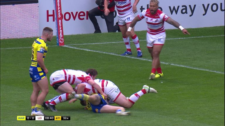 Highlights from the Super League clash between Warrington and Leigh