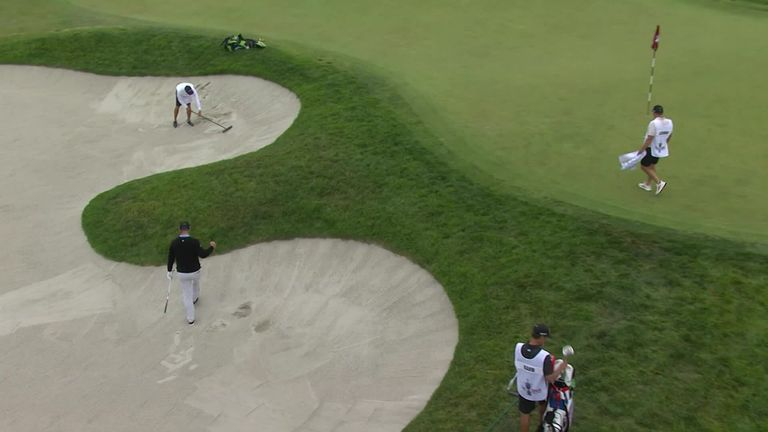 A look back at the best of the action from the second round of the 121st US Open at Torrey Pines in California.