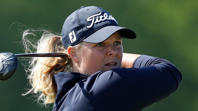 Caroline Hedwall slipped into a share of the lead in the Scandinavian Mixed