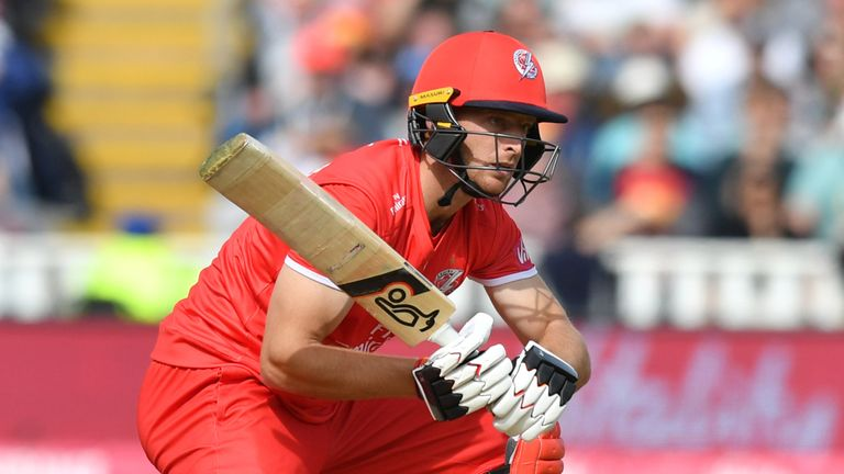 Jos Buttler struck 55 for Lancashire Lightning, but they were beaten for the first time in this season's Blast