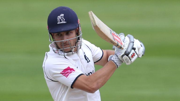 Warwickshire's Sam Hain top-scored with 77 against Derbyshire