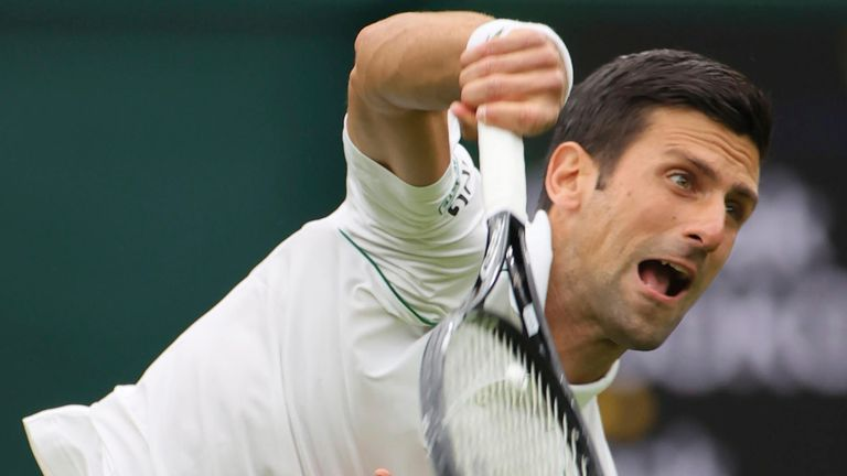 Djokovic will draw level with Roger Federer and Rafael Nadal on 20 Grand Slam titles if he can win a sixth Wimbledon crown