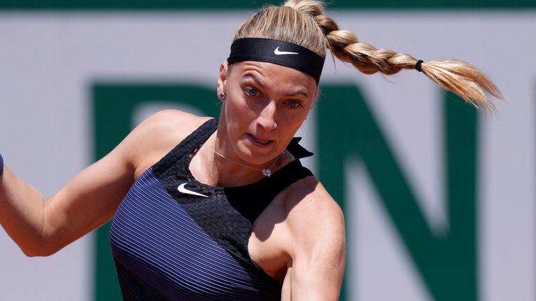 Kvitova suffered a fall during her media duties