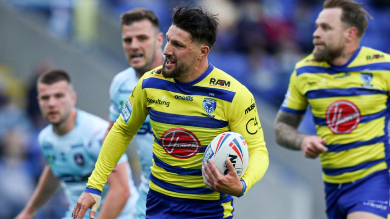 Gareth Widdop played a key role and Josh Charnley scored a hat-trick as Warrington overcame Wakefield in Super League.