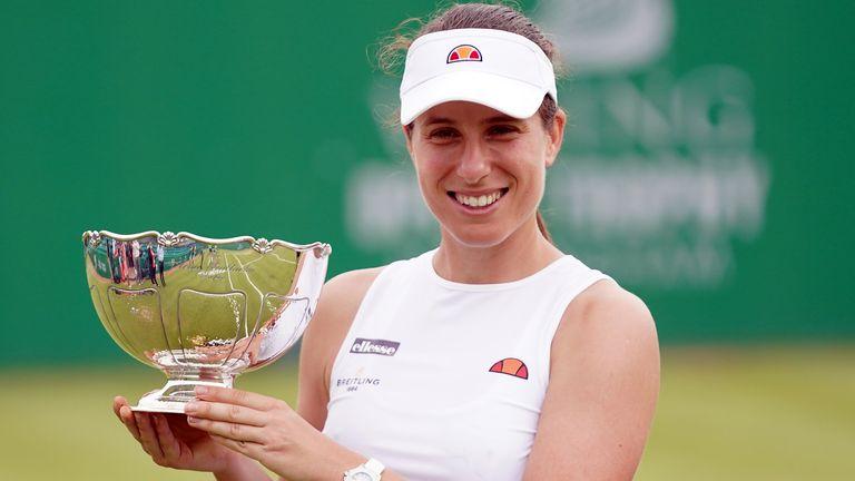 Konta a remporté son quatrième titre sur le WTA Tour en remportant le Viking Open à Nottingham plus tôt ce mois-ci