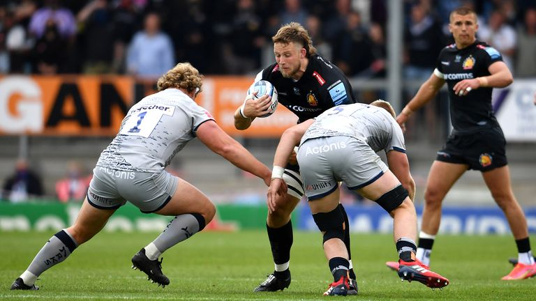 Jonny Hill carries for the Chiefs