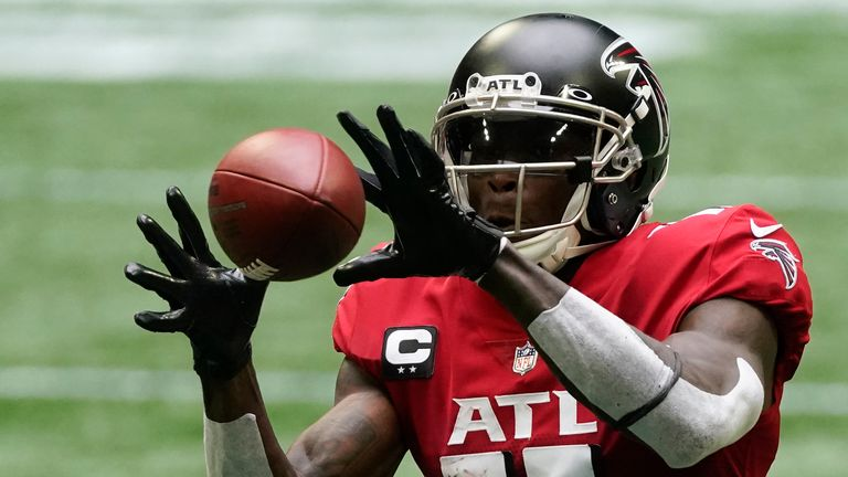 Wide receiver Julio Jones arrives in Tennessee from Atlanta in a major offseason move