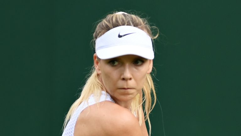 Katie Boulter came from a set down to make it through to the second round at Wimbledon