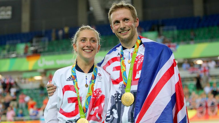 Laura and Jason Kenny pictured at the 2016 Rio Olympics