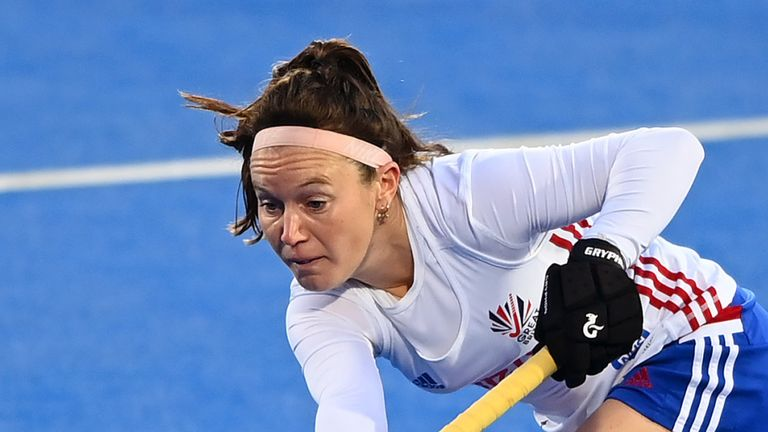 Laura Unsworth of Great Britain in action during the FIH Hockey Pro League match against Germany Women. (Photo by Alex Davidson/Getty Images)