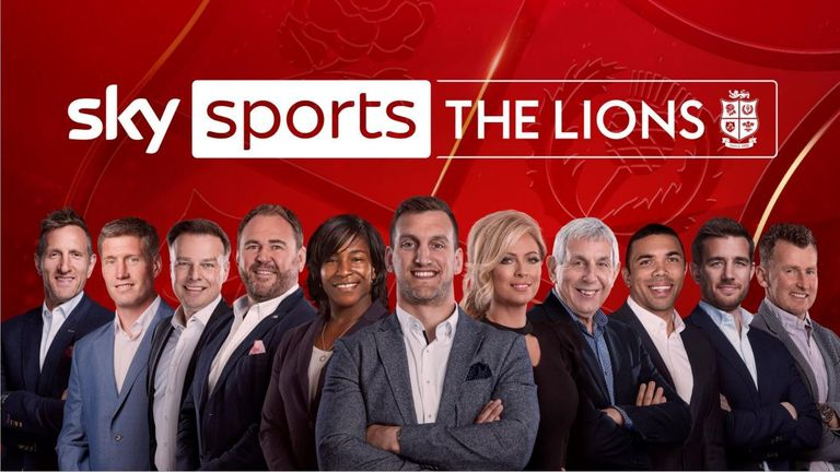 Sky Sports announce their start-studded talent line up for the Lions tour