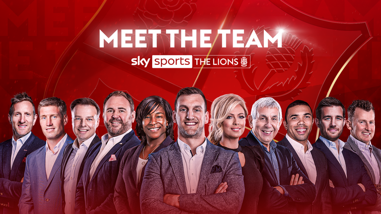 There will be a star-studded line-up on Sky Sports to guide viewers throughout the tour