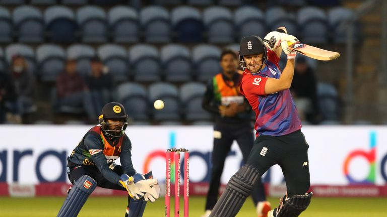 The best of the action from the second T20 between England and Sri Lanka, which the hosts won by five wickets on DLS
