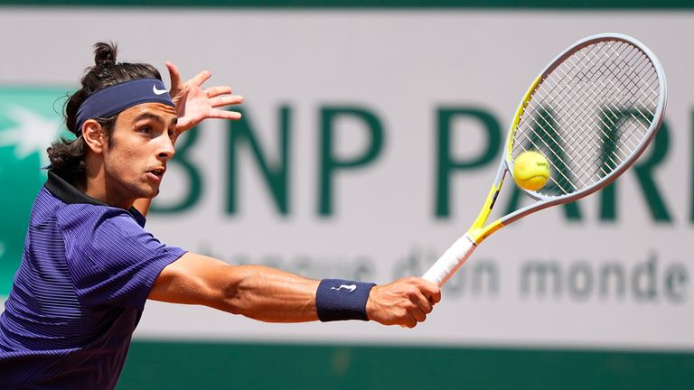 Lorenzo Musetti stunned with his variety and strength during the opening two sets