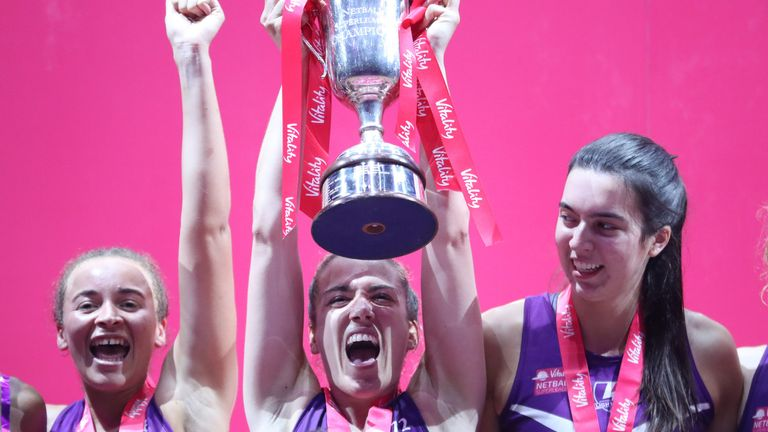 Loughborough Lightning won the title in style on Sunday with a 17-goal victory over Team Bath Netball (Image credit - Morgan Harlow)