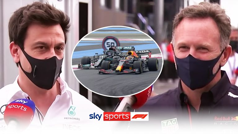 Mercedes team principal Toto Wolff and Red Bull team principal Christian Horner look back on an incredible battle between Lewis Hamilton and Max Verstappen at the French GP