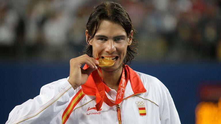 Rafael Nadal memenangkan emas individu di Beijing pada tahun 2008