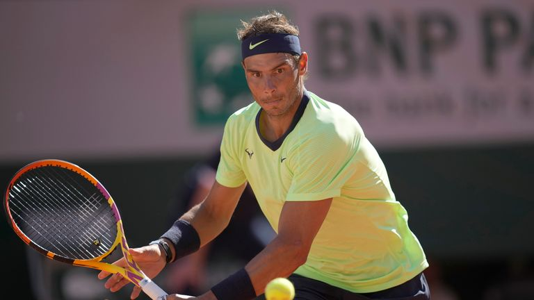 The 13-time French Open champion will face two-time Grand Slam semi-finalist Richard Gasquet in round two