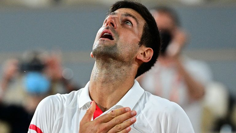 Novak Djokovic came from a set down to defeat Rafael Nadal in a spellbinding four-hour, 11-minute epic to reach Sunday's French Open final