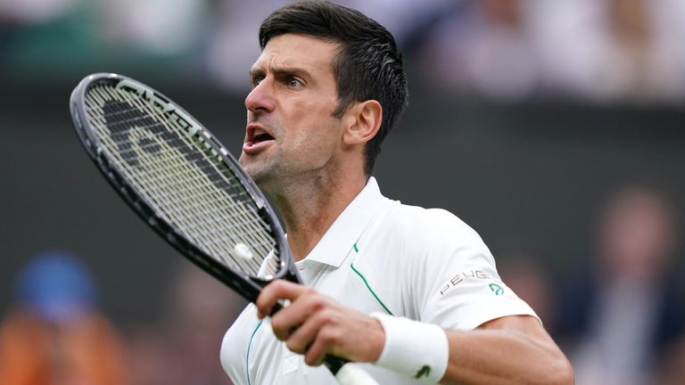 The Serb fired down 25 winners and made just six unforced errors against the 2018 finalist