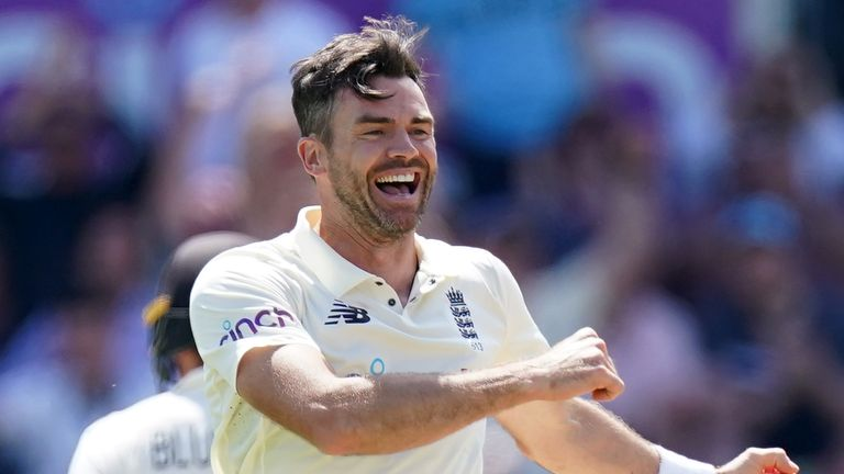 James Anderson struck as England fought back with the ball after lunch