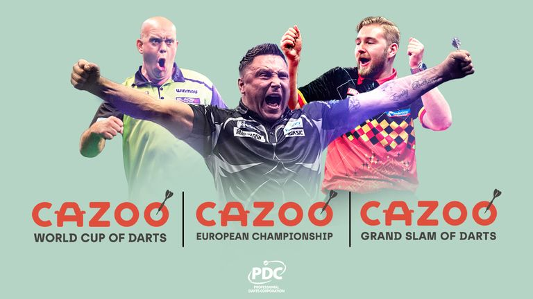 Cazoo will sponsor the World Cup of Darts, the European Championships, and the Grand Slam of Darts