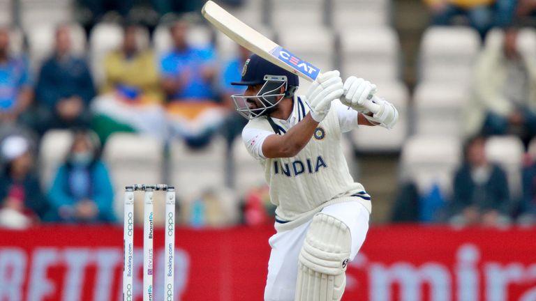 Ajinkya Rahane top-scored for India, falling one run short of a 24th Test half-century