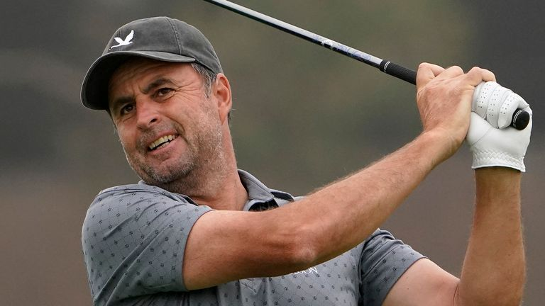 Bland is playing in only his fourth major at the age of 48