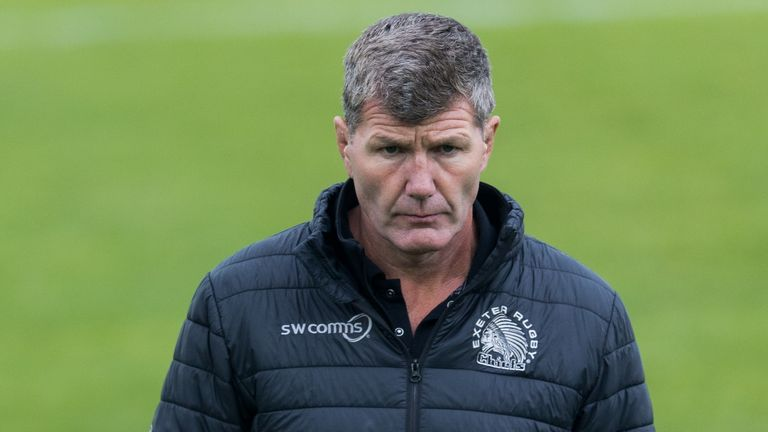 Exeter Chiefs director of rugby Rob Baxter looks on during the Gallagher Premiership Rugby semi-final