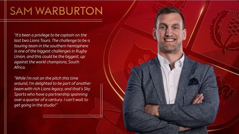 Sam Warburton is part of our Sky Sports talent for the Lions tour