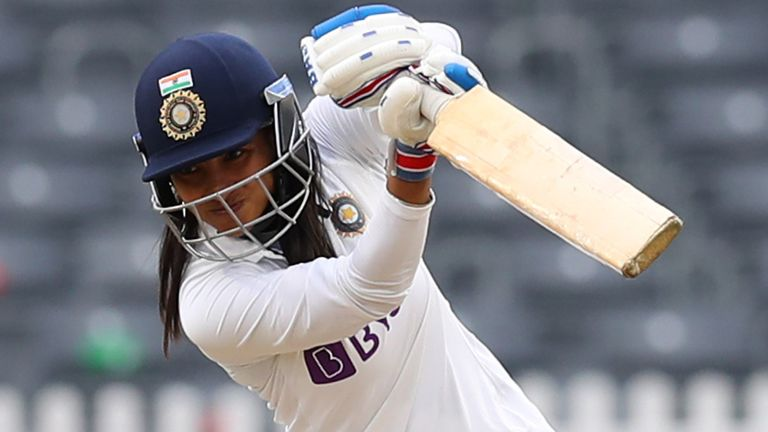 Sneh Rana hit an unbeaten 80 as India battled to a dr5aw in the one-off Test against England