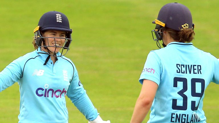 Watch the best bits from the first ODI as England Women thrashed India by eight wickets