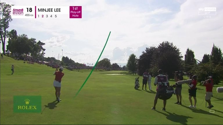 Highlights from a thrilling final round at the Evian Championship, where it took a play-off to produce the latest women's major champion.