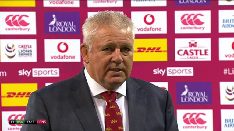 Warren Gatland admits his British and Irish Lions side needed a tough game against South Africa 'A' and was delighted with their second half performance despite the defeat.