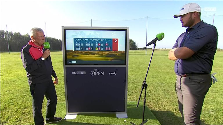 Jonathan Thomson joins Tim Barter at the Sky Cart to reflect on his major debut so far and his incredible hole-in-one at Royal St George's.