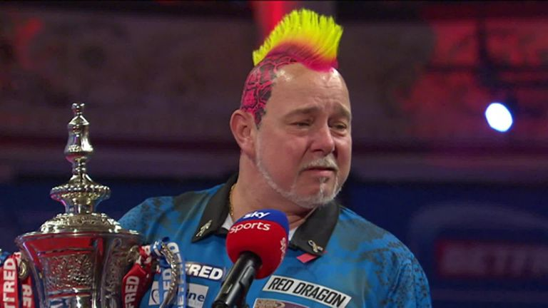 An emotional Peter Wright dedicated the World Matchplay title to his wife and said he felt he was going to win it from the start of the tournament.