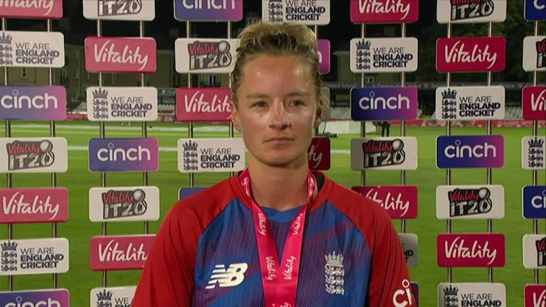 Danni Wyatt says she embraced the pressure after being left out of the ODI series against India.