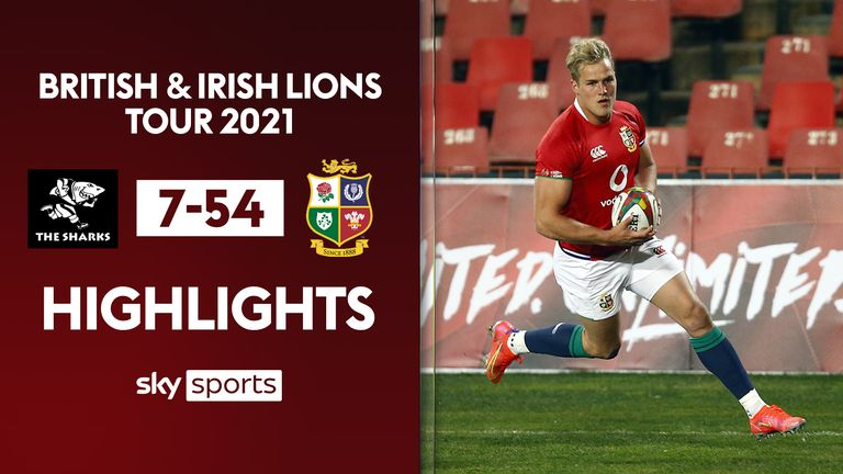 Highlights from the British and Irish Lions' win over Sharks at Ellis Park