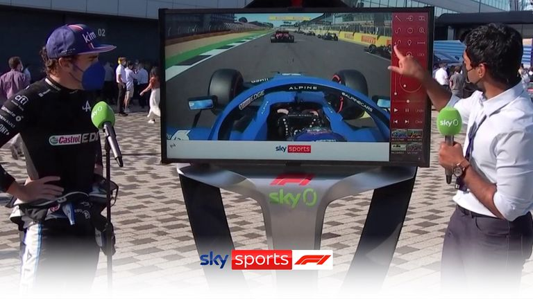 Karun Chandhok was joined by Fernando Alonso at the SkyPad to analyse his electric start, racing through the field in the opening laps of the F1 Sprint to go from 11th to fifth