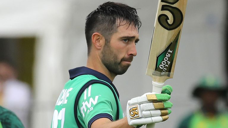 Captain Andy Balbirnie scored a century as Ireland beat South Africa for the first time in their history