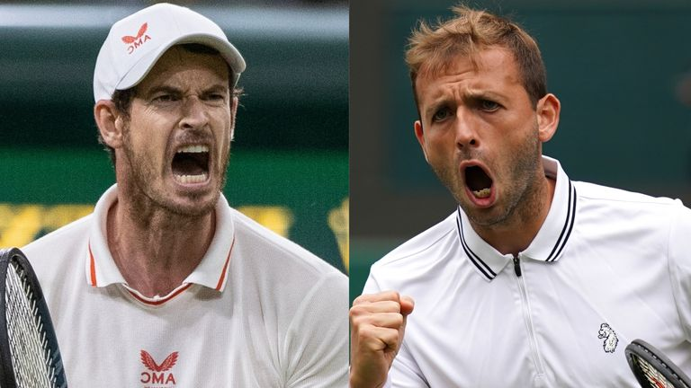 Andy Murray and Dan Evans are back in action at Wimbledon on Friday - both players will be hoping to reach the second week