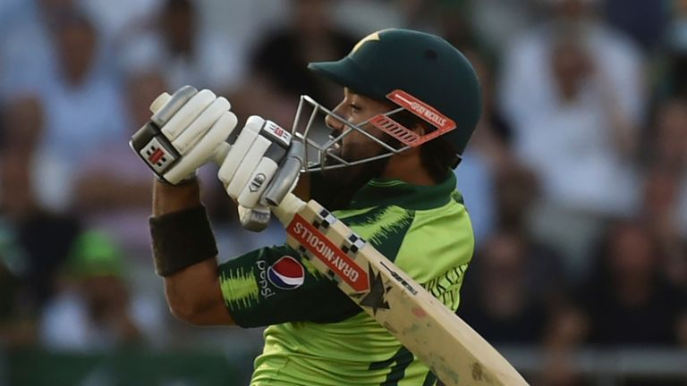 Mohammad Rizwan led the way for Pakistan with an unbeaten 76 from 57 balls