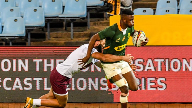 Aphelele Fassi scores for the boks