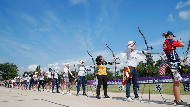 The archery mixed team event is set to take place on Saturday