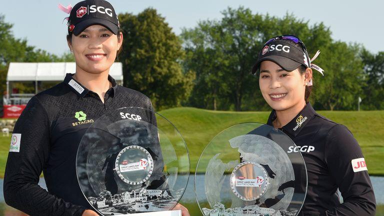 Moriya and Ariya Jutanugarn ended the week on 24 under to win the Dow Great Lakes Bay Invitational
