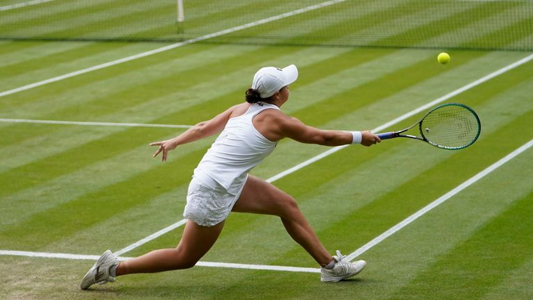 Barty withdrew from the French Open last month and her Wimbledon participation had been placed in doubt (AP)