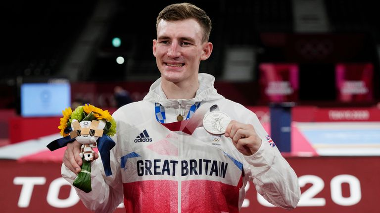 Geraint Hughes reports from Tokyo at the end of a day which saw Sinden and judoka Chelsie Giles open Great Britain's medal account at the Games