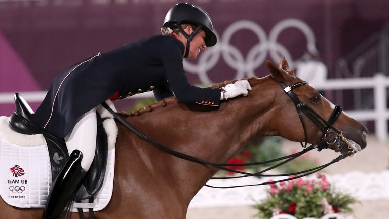 Ben Ransom says Charlotte Dujardin had to strike up a partnership with a new horse to win her sixth Olympic medal and become Britain's most-decorated female Olympian