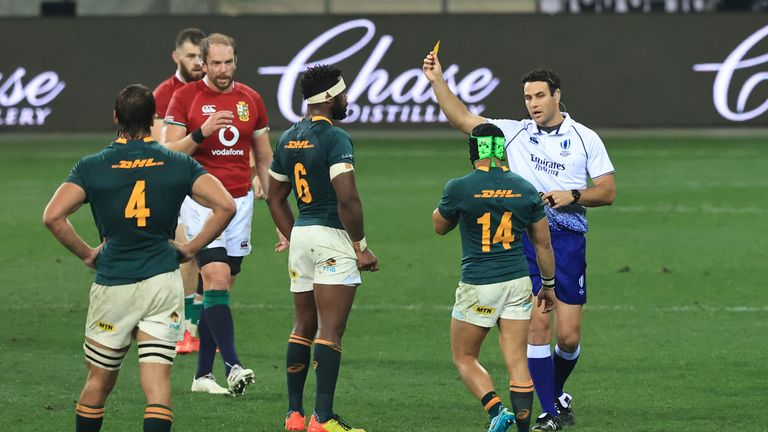 Kolbe was lucky to just to see yellow, says Nigel Owens